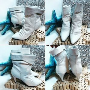 CHINESE LAUNDRY White Leather Boots NEW NO BOX 9M